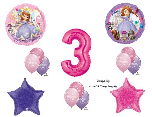 Disney's SOFIA THE FIRST THIRD 3RD Happy Birthday PARTY Balloons Decorations Supplies