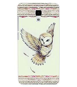 ColourCraft Beautiful Owl Design Back Case Cover for XIAOMI MI 4