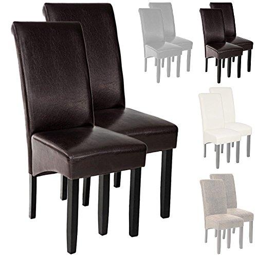 TecTake-2er-Set-Hochqualitativer-Luxus-Esszimmerstuhl-105cm-hoch-Holz-diverse-Farben-Braun