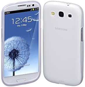 Cimo Samsung Galaxy S3 Case Gloss Premium Flexible TPU Cover for Samsung Galaxy S III S3 - Frosted Clear