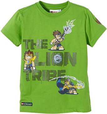 LEGO Wear T-shirt  Col ras du cou Manches courtes Garon - Vert - Grn (839 GARDEN GREEN) - FR : 4 ans (Taille fabricant : 104)