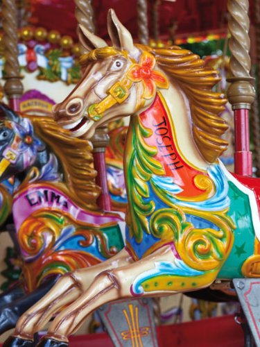 Merry Carousel 500 Piece Colorluxe Puzzle