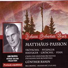 Matth�us-Passion : Part I - n6, Recitative, Da nun Jesus war zu Bethanien