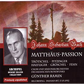 Matth�us-Passion : Part I - n20, Recitative, Und da sie den Lobgesang