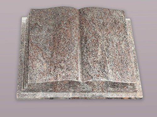 """Buch Grabstein aus Granit """"Paradiso"""" 45-35-12 cm inkl. Gravur - Grabstein, Grabkissen, Kissenstein, Grabplatte, Gedenkstein mit Bild, Motiv"""