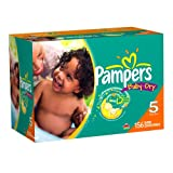 Pampers Baby Dry Diapers Economy Plus Pack, Size 5, 156 Count ~ Pampers