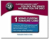 1 Song All Star Karaoke Custom Karaoke Card