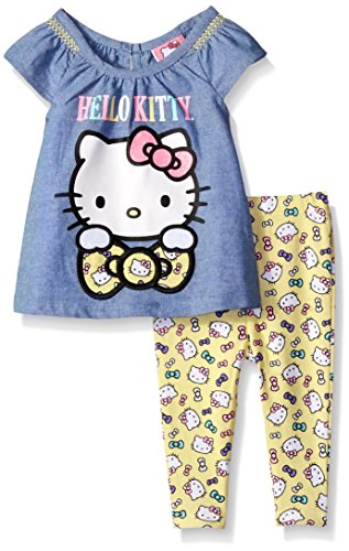 Hello-Kitty-Baby-Girls-2pc-Woven-Tee-and-Legging-Set