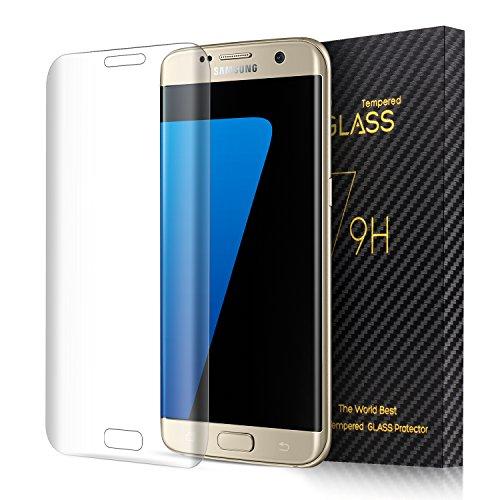 SENDIS Film de Protection d' Écran en Verre Trempé pour Samsung Galaxy S7 Edge - Film Protecteur 3D Incurvé Transparent Anti-casse Anti-rayures sans Bulles Haute Définition