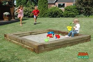 joda massive sandkiste ben 220x220cm sandkasten sandbox sand garten holz spielzeug. Black Bedroom Furniture Sets. Home Design Ideas