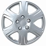 517WkjcsOxL. SL160  Drive Accessories KT993 15S/L 15 Silver and Lacquer ABS Plastic Wheel Cover Replica Hubcaps   Pack of 4