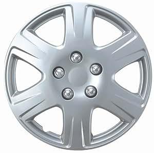 """Drive Accessories KT-993-15S/L, Toyota Corolla, 15"""" Silver Replica Wheel Cover, (Set of 4)"""