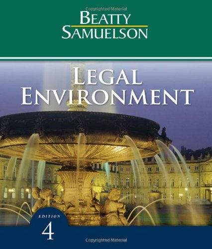 Legal Environment (Available Titles CengageNOW)