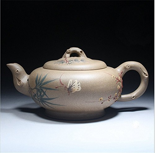 Chinese Yixing Handmade Zisha Duan Ni Gongfu Tea Pot 310Cc Home Decoration Tea Ceremony