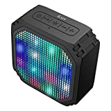 Aud Mini Party by iLuv (Rugged Dynamic Color LED Portable Bluetooth Speaker) for Apple iPhone, Apple iPad, Samsung GALAXY, Samsung Note, Samsung Tablet, LG, HTC, Google and other Bluetooth Devices (Black LED Mini)