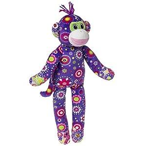"Mary Meyer Print Pizzazz 17"" Plush Sock Monkey, Daisy at 'Sock Monkeys'"