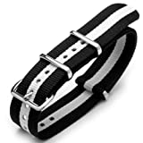 20mm G10 Nato James Bond Heavy Nylon Strap Polished Buckle – J27