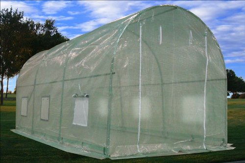 Large Heavy Duty Green House Walk in Greenhouse Hothouse 15'(4.5 m)L X 7'(2 m)W X7.5H -- 80 Pounds