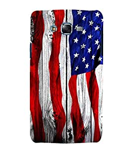 Fuson Premium Back Case Cover Flag design With black Background Degined For Samsung Galaxy Grand i9080:::Samsung Galaxy Grand i9082
