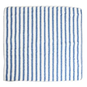 White Sky Blue Stripe Pattern Kitchen Dish Washing Cleaning Cloth Hand Towel