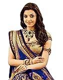 Alethia Enterprise Royal Blue Color Bhagalpuri Embroidered Wedding Wear Saree with Blouse Piece - ALI921SEs-329