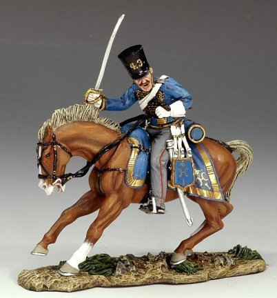 Mounted Russian Hussar Charging | Charge of the Light Brigade | Crimean War | King & Country CRW019 by King & Country