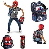 Marvel Ultimate Spiderman Complete Kids School Backpack Set - Backpack, Lunch Kit & Water Bottle