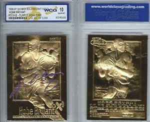 KOBE BRYANT SKYBOX EX-2000 WCG GEM-MT 10 23KT GOLD ROOKIE CARD! PURPLE SIGNATURE EDITION!