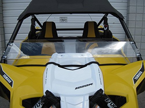 Yamaha-YXZ-Premium-double-sided-Scratch-Resistant-Half-Windshield-10-12-Tall-Tallest-on-the-market-Can-Make-Shorter-Made-in-America-FREE-SHIPPING