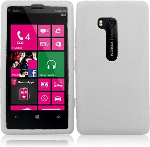 Nokia-Lumia-810-T-Mobile-Phone-Case-Accessory-Soft-White-Soft-Silicone-Rubber-Skin-Cover-with-Free-Gift-Aplus-Pouch