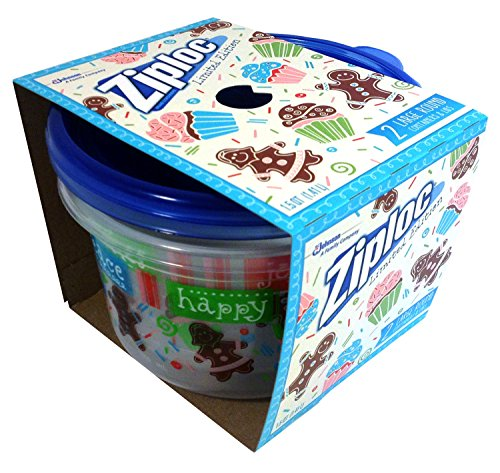 Ziploc Limited Holiday Edition Large Round Containers, 2 Containers & Lids
