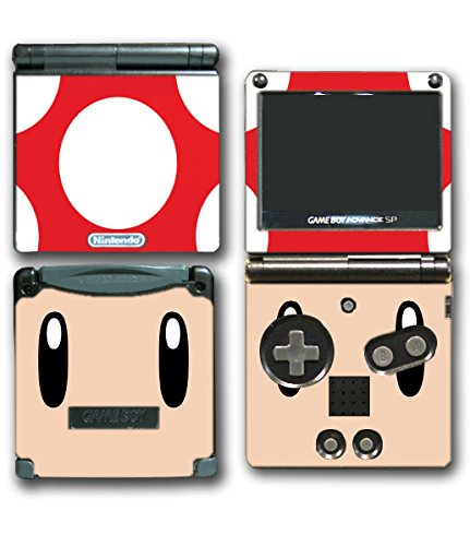 New Super Mario Bros Toad Mushroom Video Game Vinyl Decal Skin Sticker Cover for Nintendo GBA SP Gameboy Advance System (Super Mario Brothers Gameboy compare prices)