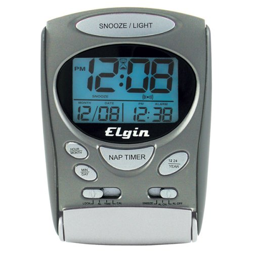 Timex 3400T Indiglo Portable LCD Intrusion Alarm Clock