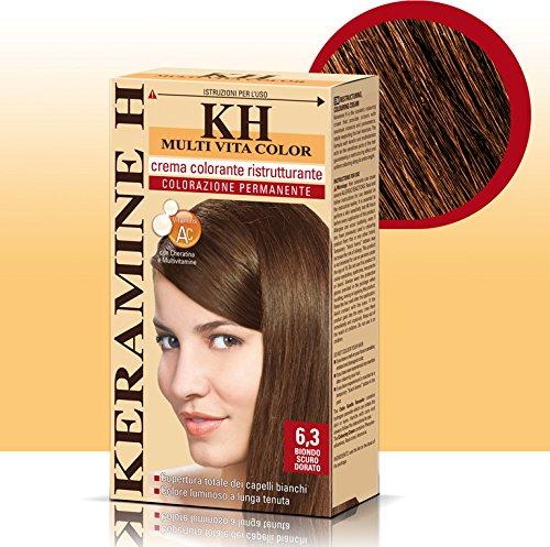 Keramine H Crema Colorante 6,3 Biondo Scuro Dorato