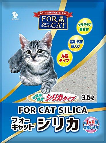 新東北化学工業 フォーキャットシリカで作った猫砂 3.6L