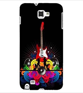 ColourCraft Guitar Music Back Case Cover for SAMSUNG GALAXY NOTE 1