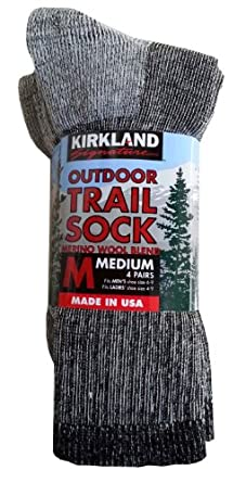 Buy Kirkland Signature Mens Outdoor Trail Sock Merino Wool Blend by Kirkland Signature