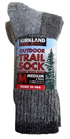 Buy Kirkland Signature Mens Outdoor Trail Sock Merino Wool Blend by Kirkland Signature