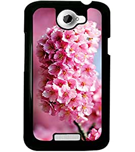 ColourCraft Lovely Flowers Bunch Design Back Case Cover for HTC ONE X