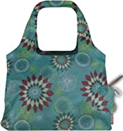 ChicoBag Vita Solstice Collection Reusable Shopping/Tote Grocery Bag, Aqua Dandelion