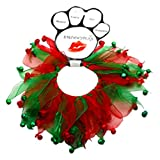 Mirage Pets Christmas Bells Smoocher for Pets - Red and Green - Size Large