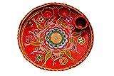 Hand made round puja thali