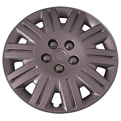 Set of 4 Silver 17 Inch Aftermarket Replacement Hubcaps with Metal Clip Retention System - Part Number: IWC419/17S