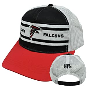 NFL Atlanta Falcons Football Logo Snapback Mesh Trucker Curved Licensed Hat Cap by NFL