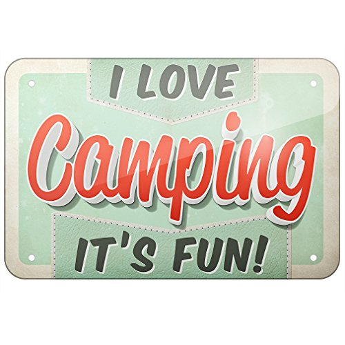 I Love Camping It's Fun! Vintage Design Sign made our list of camping gifts couples will love and great gifts for couples who camp