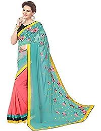 Lajree Designer Women's Chiffon Saree With Blouse Piece(Riya _799) …
