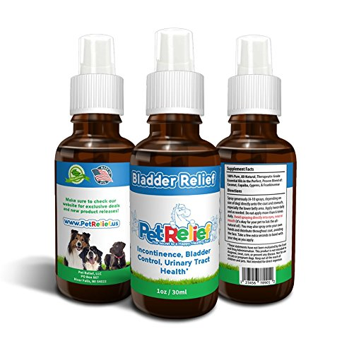 Bladder Strength For Dogs, Urinary Tract Support, Natural Incontinence Relief, Lifetime Warranty! 30ml Dog Bladder Control, Kidney Infection, Urinary Health, No Side Effects! Made In USA By Pet Relief (Bladder Control Pills compare prices)