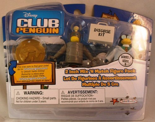 Buy Low Price Jakks Pacific Club Penguin: 2 Inch Mix 'N Match Series 9 Figure Pack – Gary the Gadget Guy (B0043VX4FU)