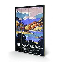 Vintage - Ullswater Cuadro De Madera (60 x 40cm)