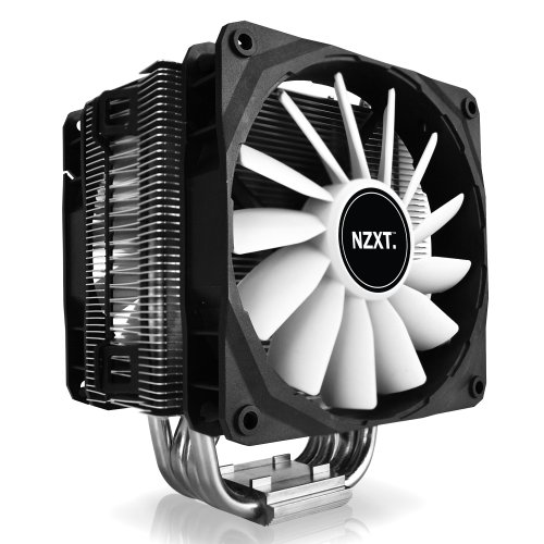 NZXT HAVIK 120 Dual 120mm Fan CPU Cooler with Four 8mm Head Pipes Silver/Black
